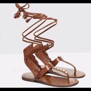 Zara wrap around sandals